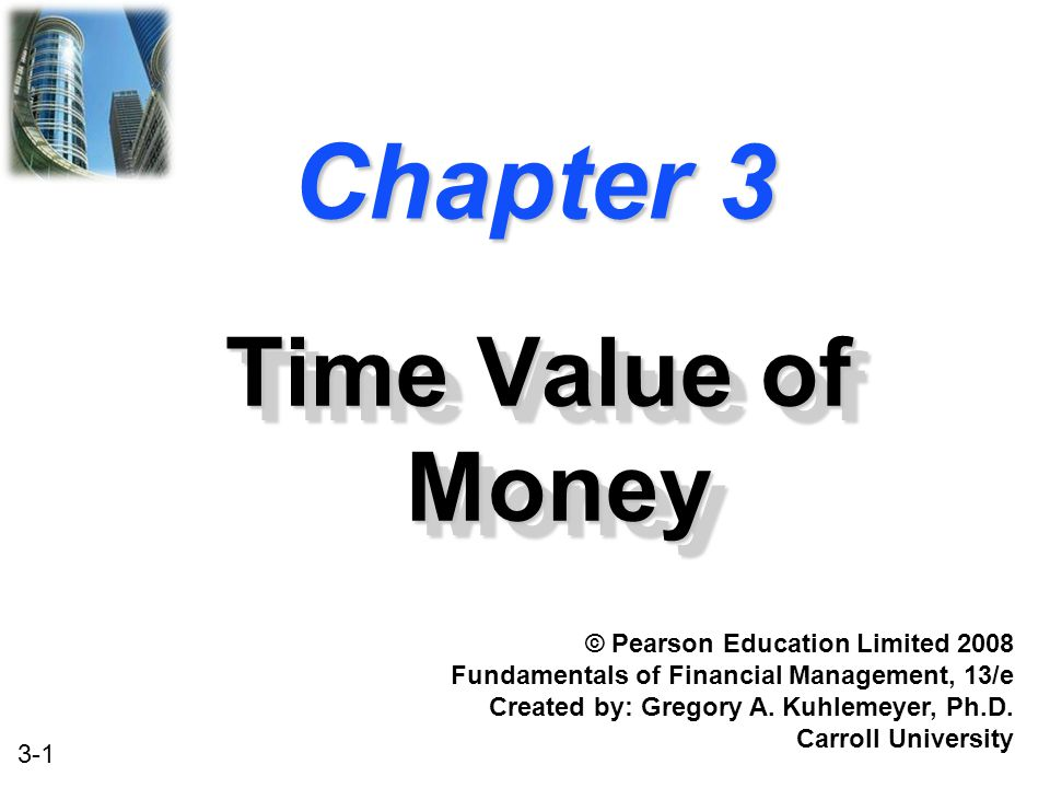 Chapter 3 Time Value of Money © Pearson Education Limited 2008