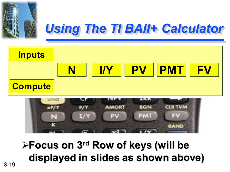 Using The TI BAII+ Calculator