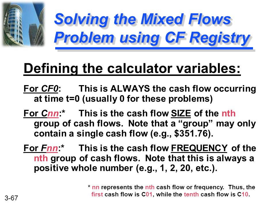 Solving the Mixed Flows Problem using CF Registry