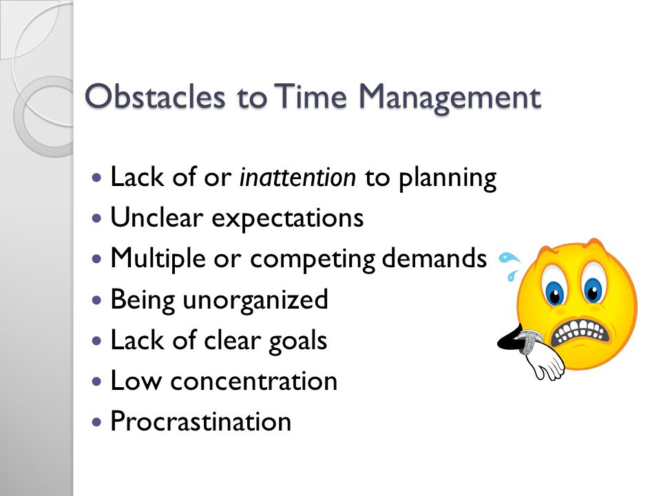 Obstacles to Time Management