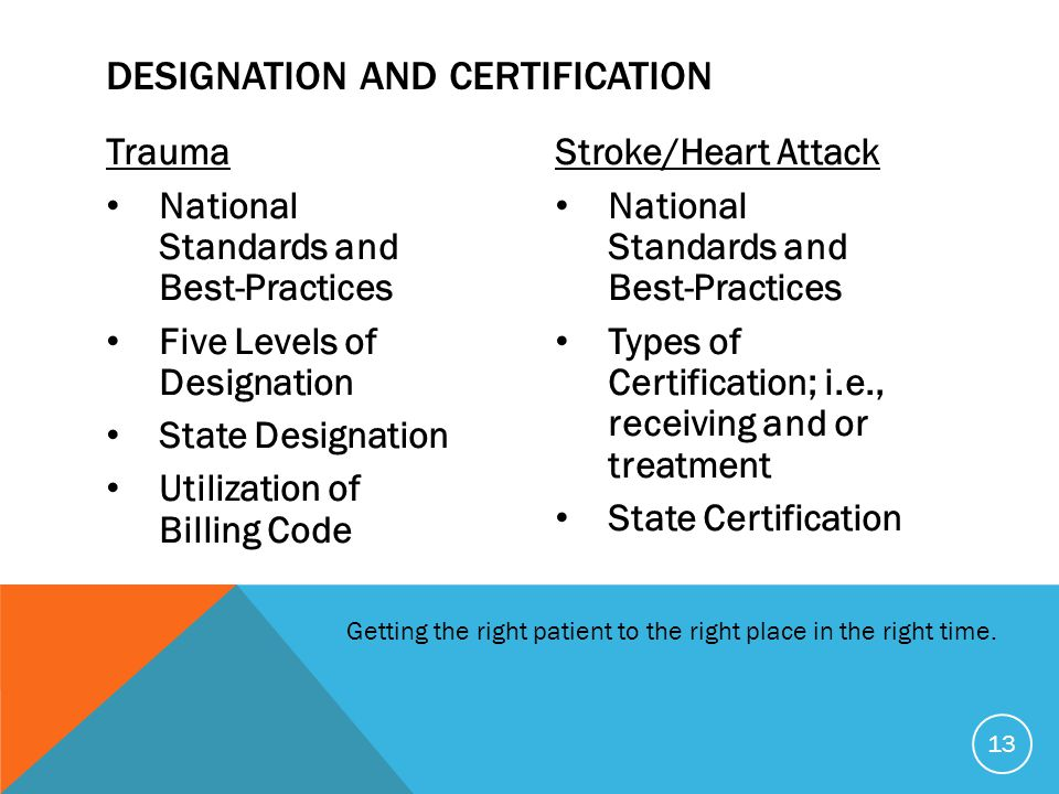 Designation and Certification