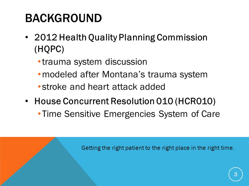BAckground 2012 Health Quality Planning Commission (HQPC)