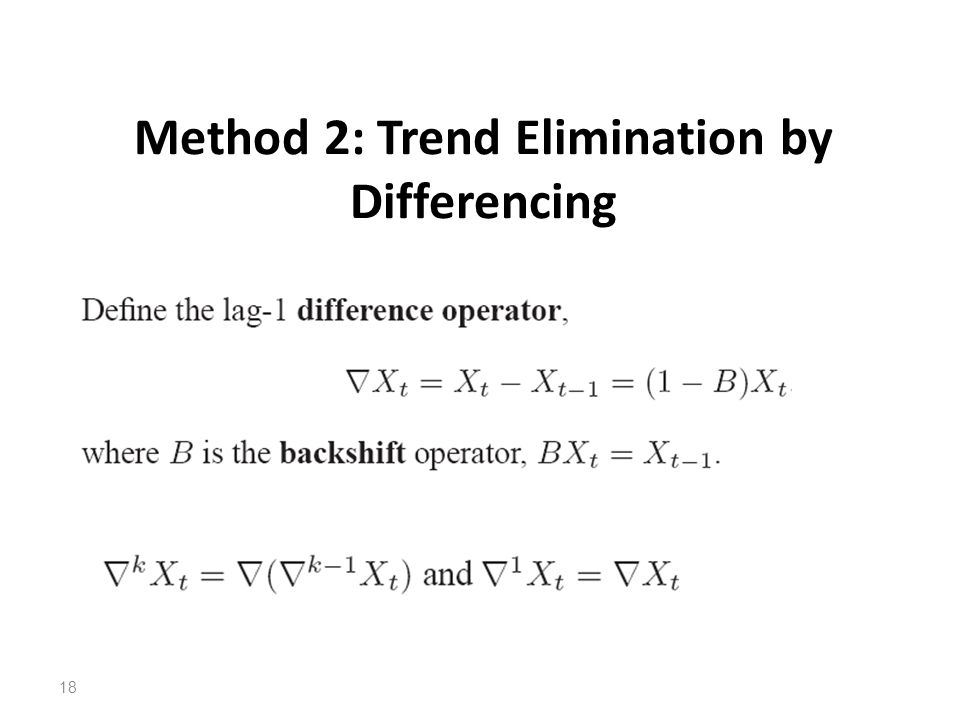 Method 2: Trend Elimination by Differencing