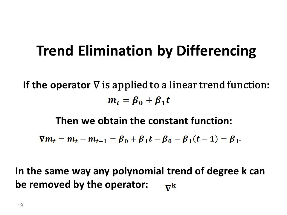 Trend Elimination by Differencing