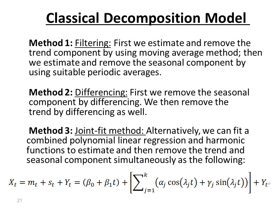 Classical Decomposition Model