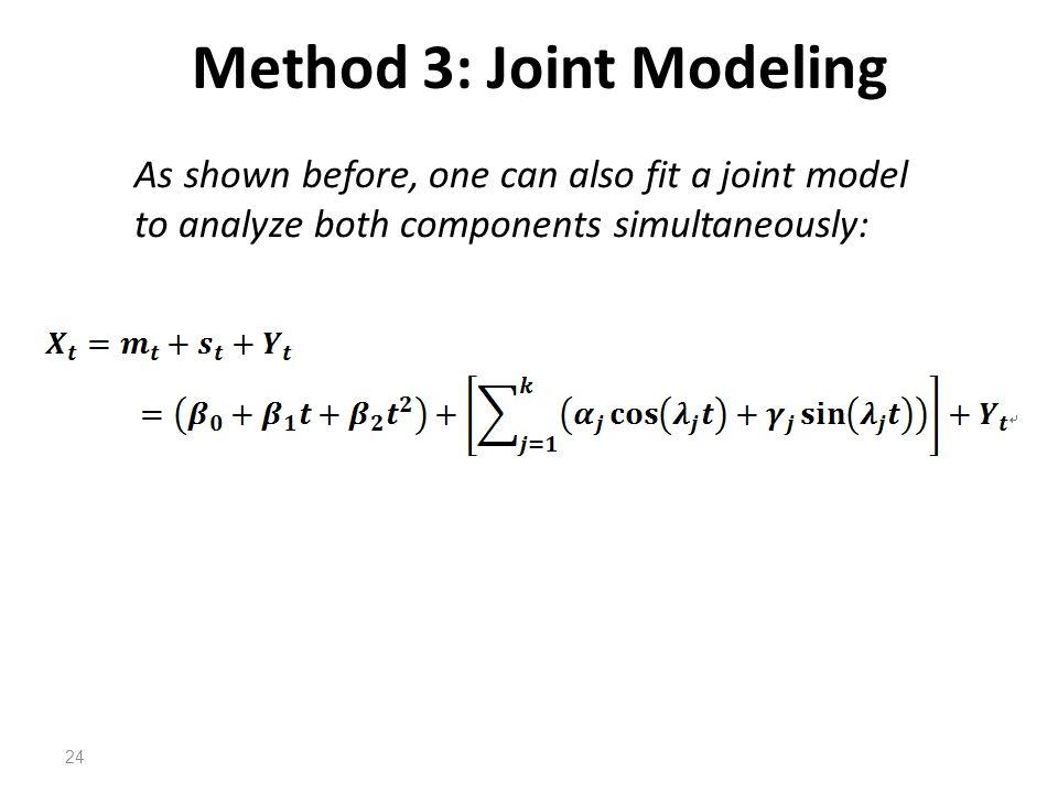 Method 3: Joint Modeling