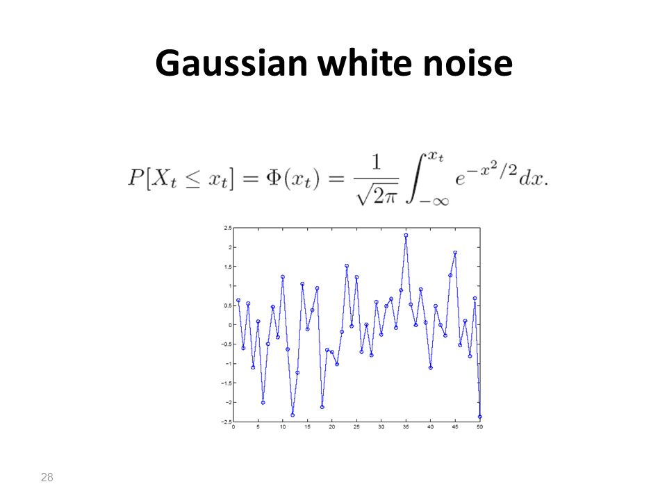 Gaussian white noise
