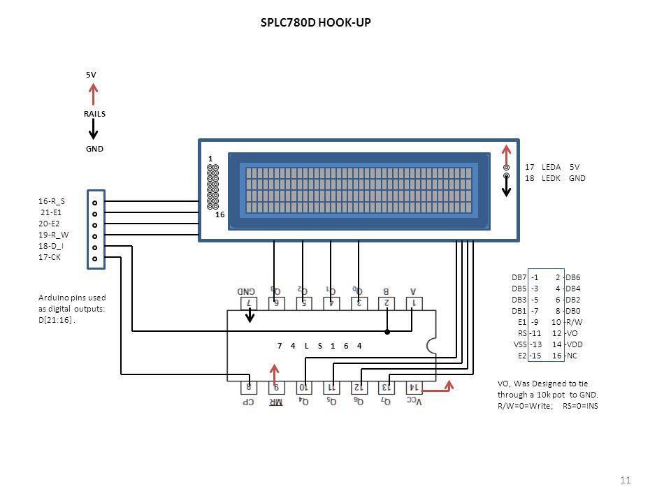 SPLC780D HOOK-UP RAILS 5V GND