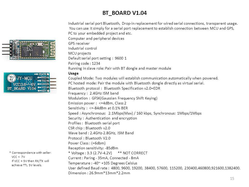 BT_BOARD V1.04 Industrial serial port Bluetooth, Drop-in replacement for wired serial connections, transparent usage.