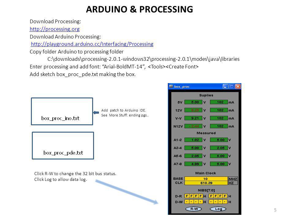 ARDUINO & PROCESSING