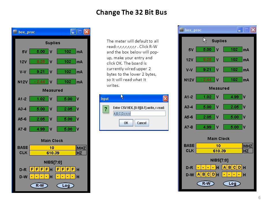 Change The 32 Bit Bus