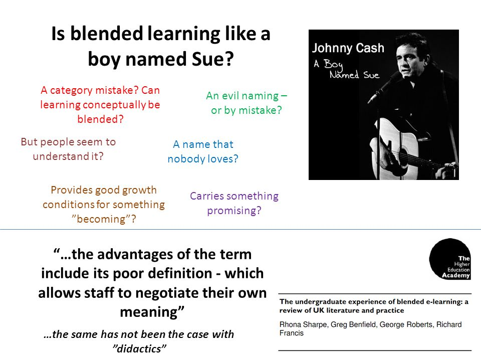 Is blended learning like a boy named Sue