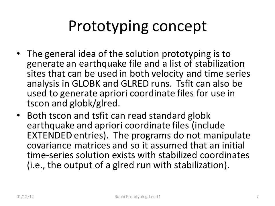 Prototyping concept