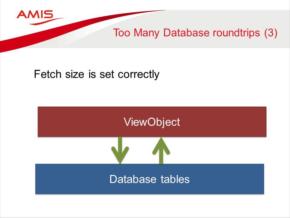 Too Many Database roundtrips (3)