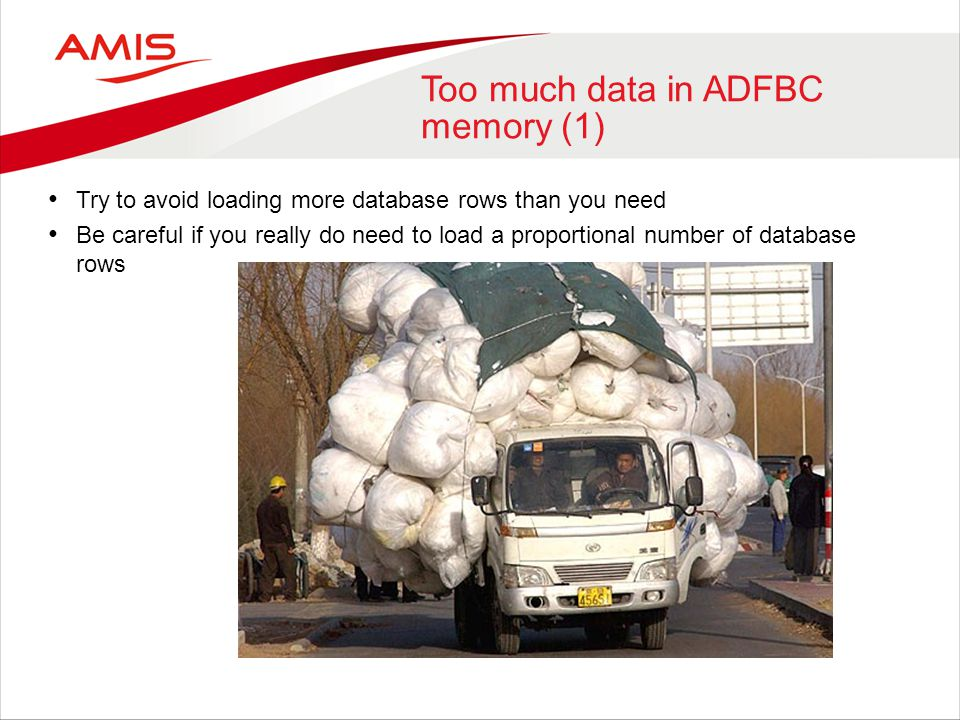 Too much data in ADFBC memory (1)