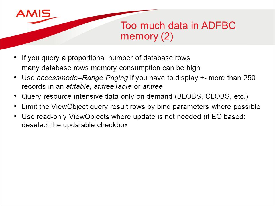 Too much data in ADFBC memory (2)