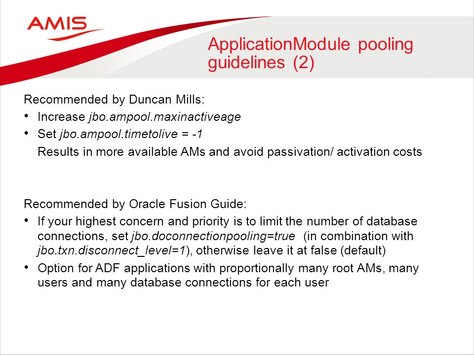 ApplicationModule pooling guidelines (2)