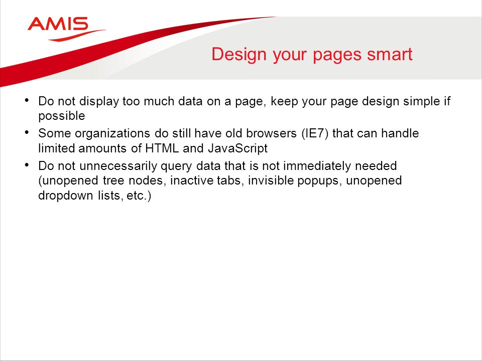 Design your pages smart