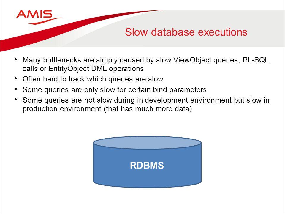Slow database executions