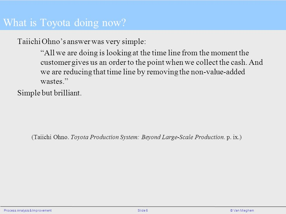 What is Toyota doing now