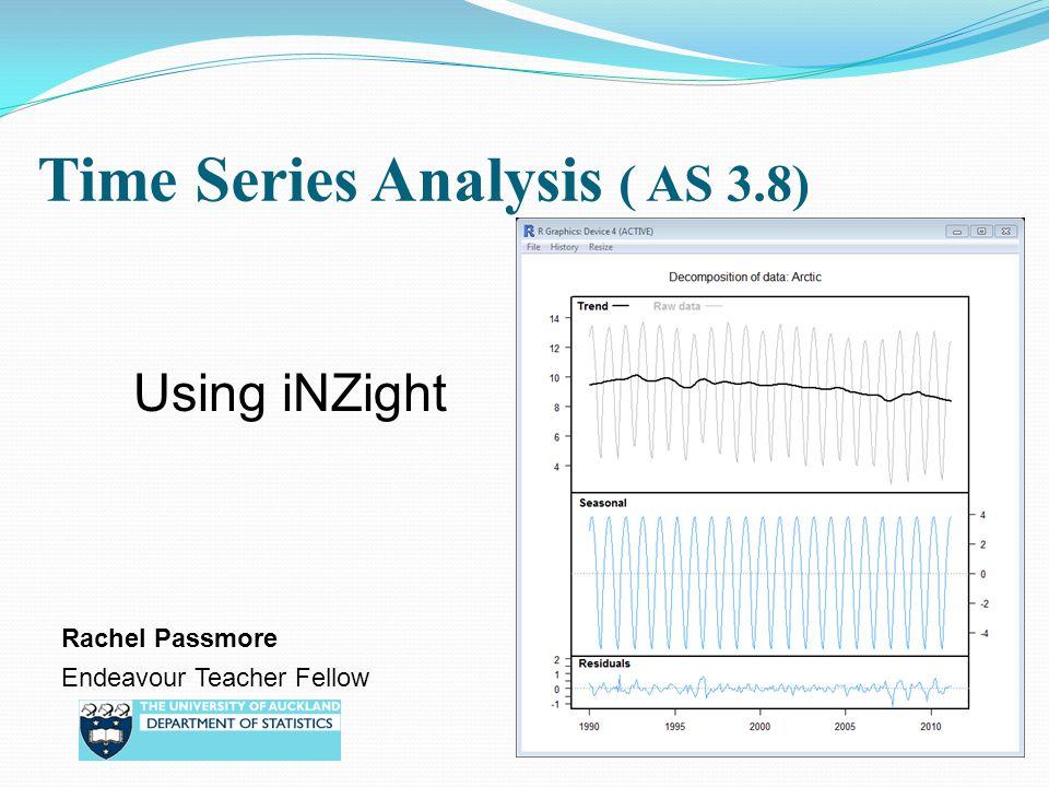 Time Series Analysis ( AS 3.8)