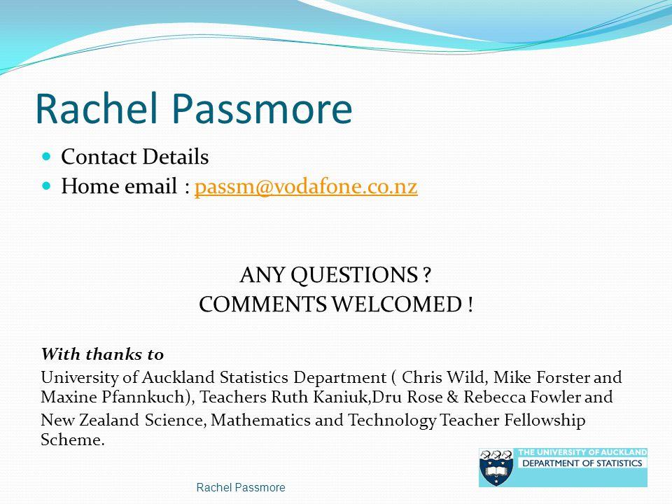 Rachel Passmore Contact Details
