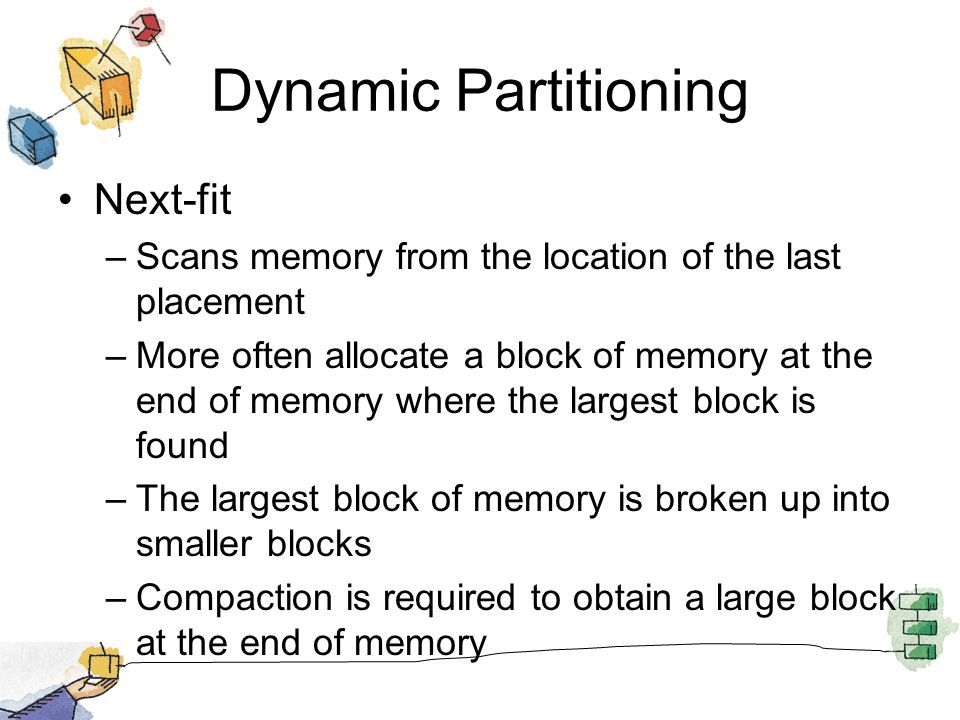 Dynamic Partitioning Next-fit