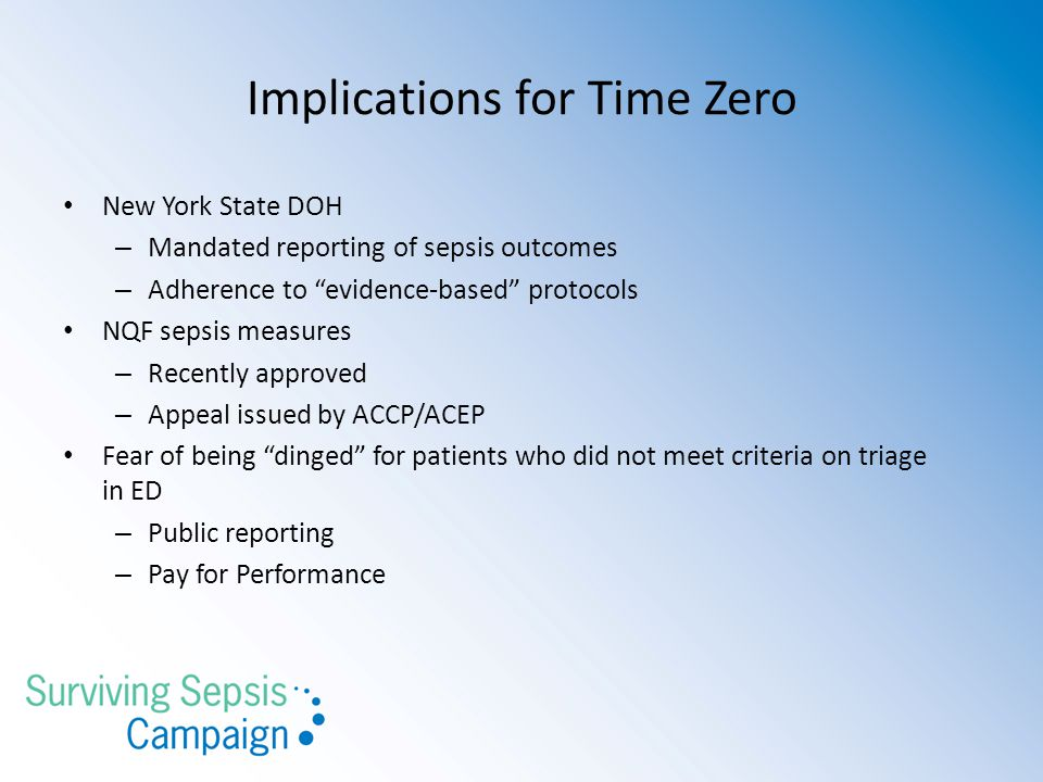 Implications for Time Zero