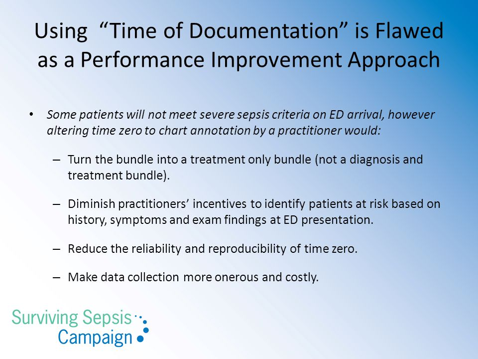 Using Time of Documentation is Flawed as a Performance Improvement Approach