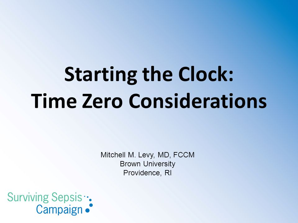 Starting the Clock: Time Zero Considerations