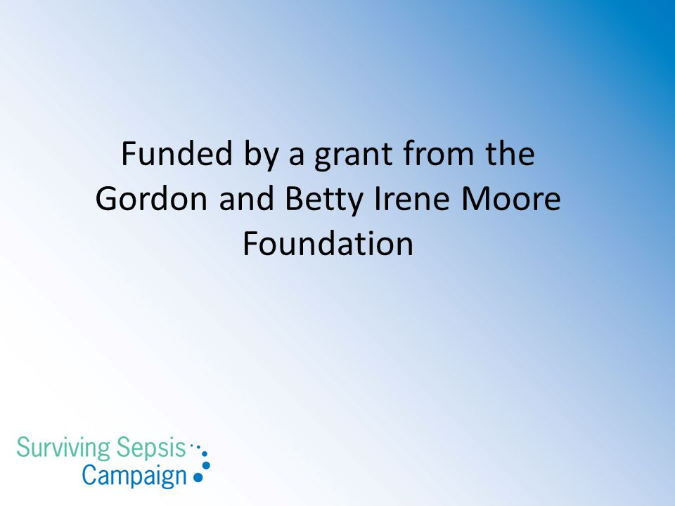 Funded by a grant from the Gordon and Betty Irene Moore Foundation