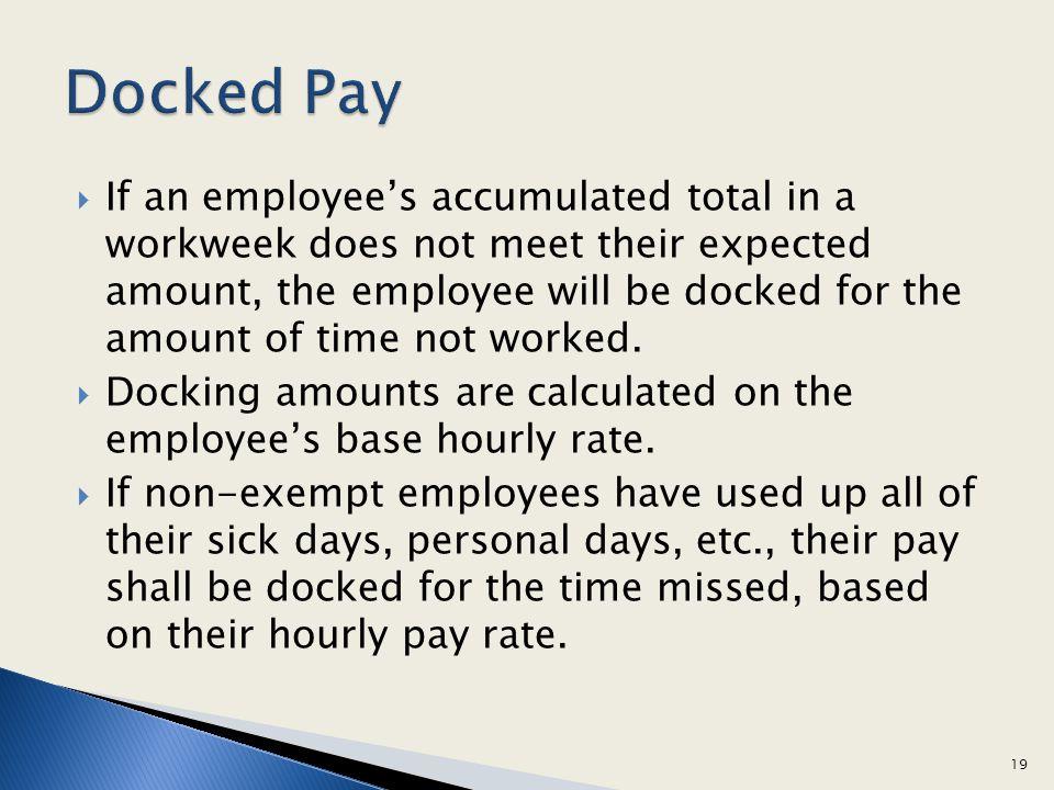 Docked Pay