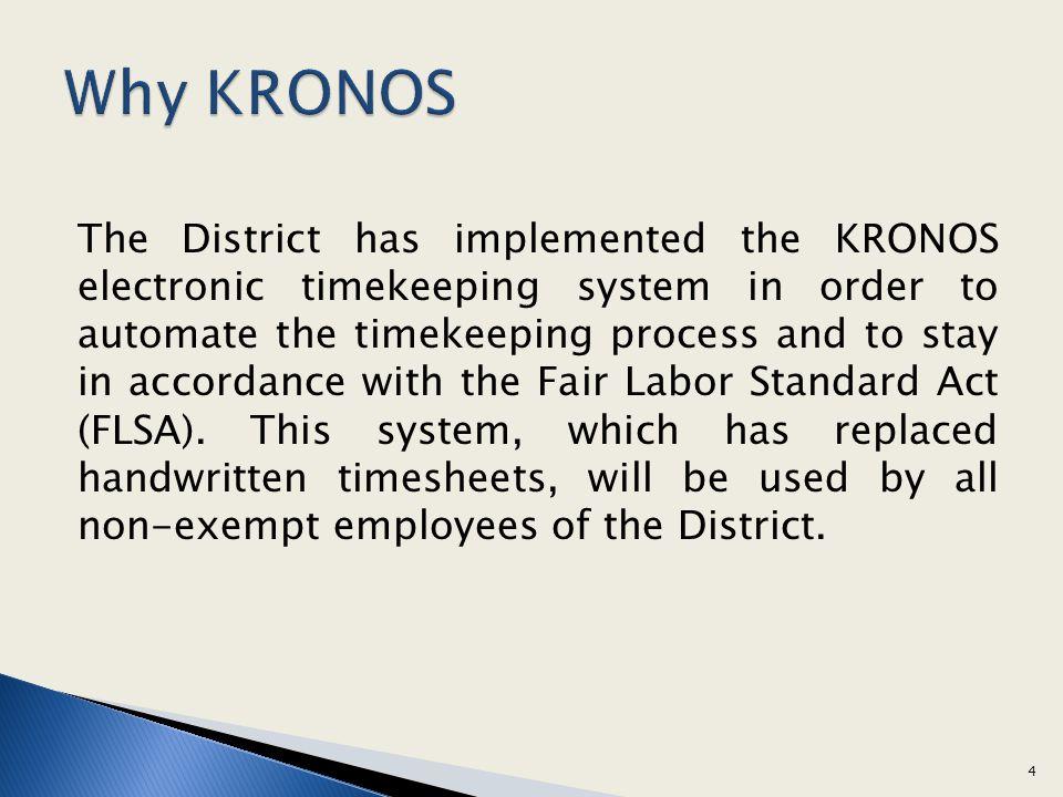 Why KRONOS