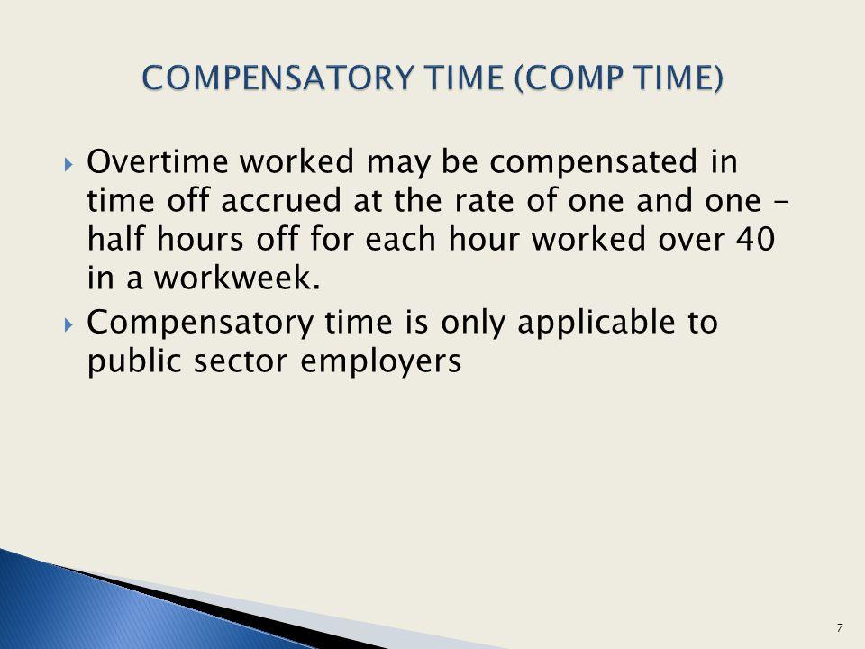 COMPENSATORY TIME (COMP TIME)