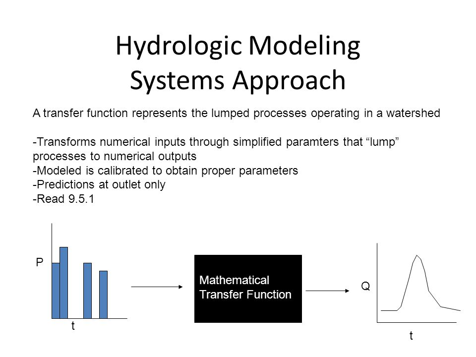 Hydrologic Modeling Systems Approach