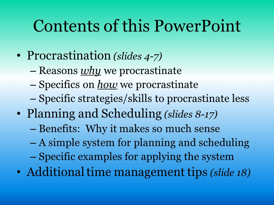 Contents of this PowerPoint