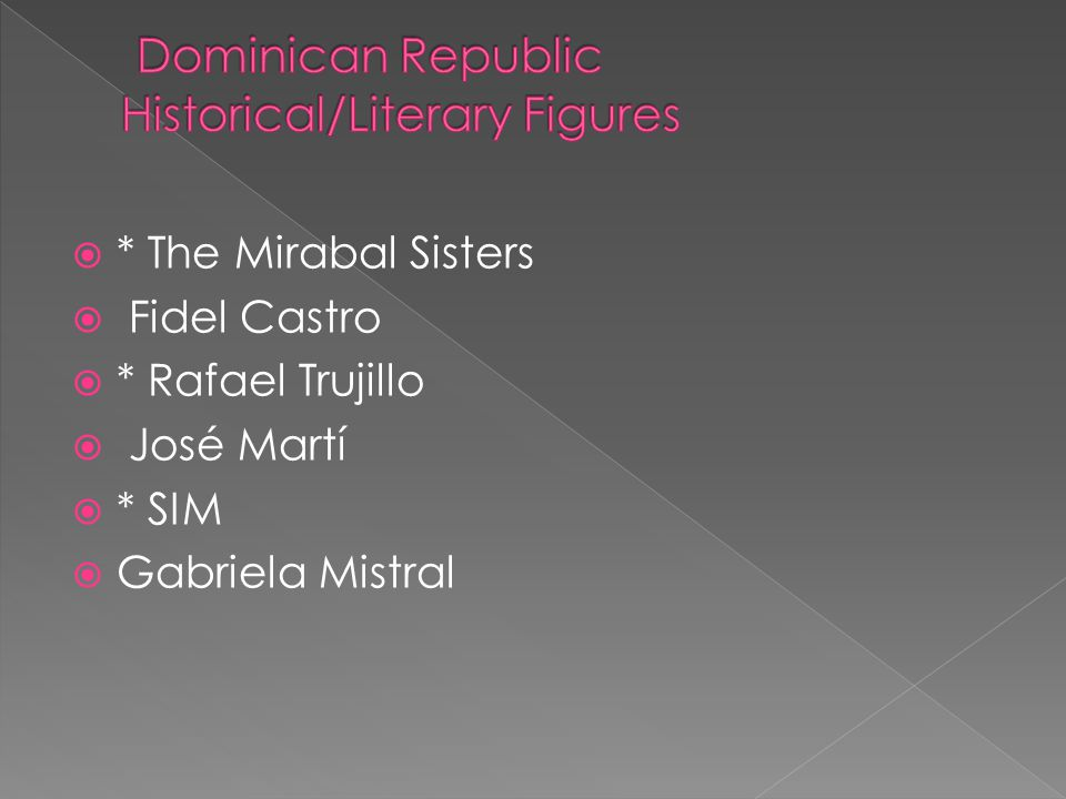 Dominican Republic Historical/Literary Figures