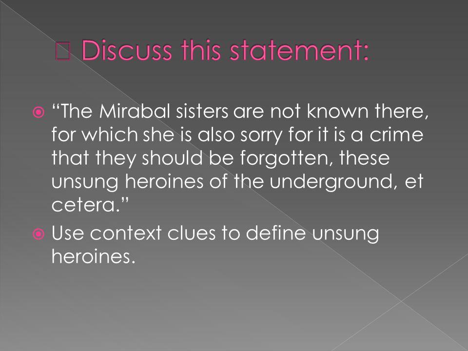  Discuss this statement: