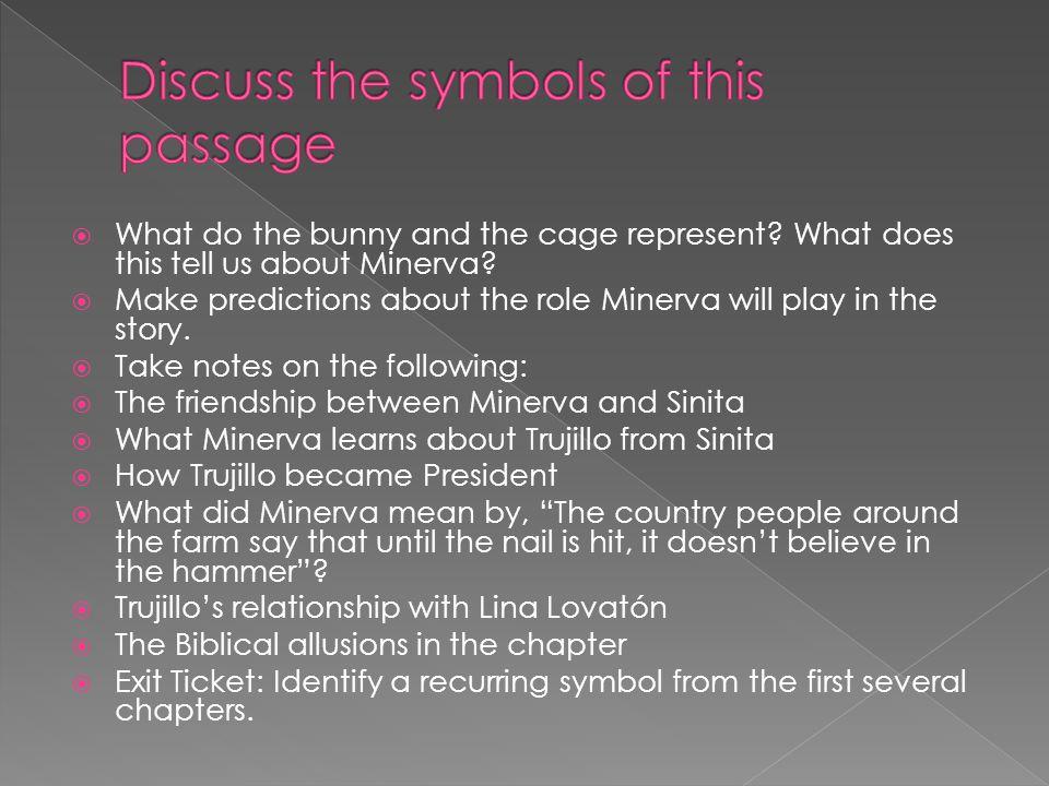 Discuss the symbols of this passage