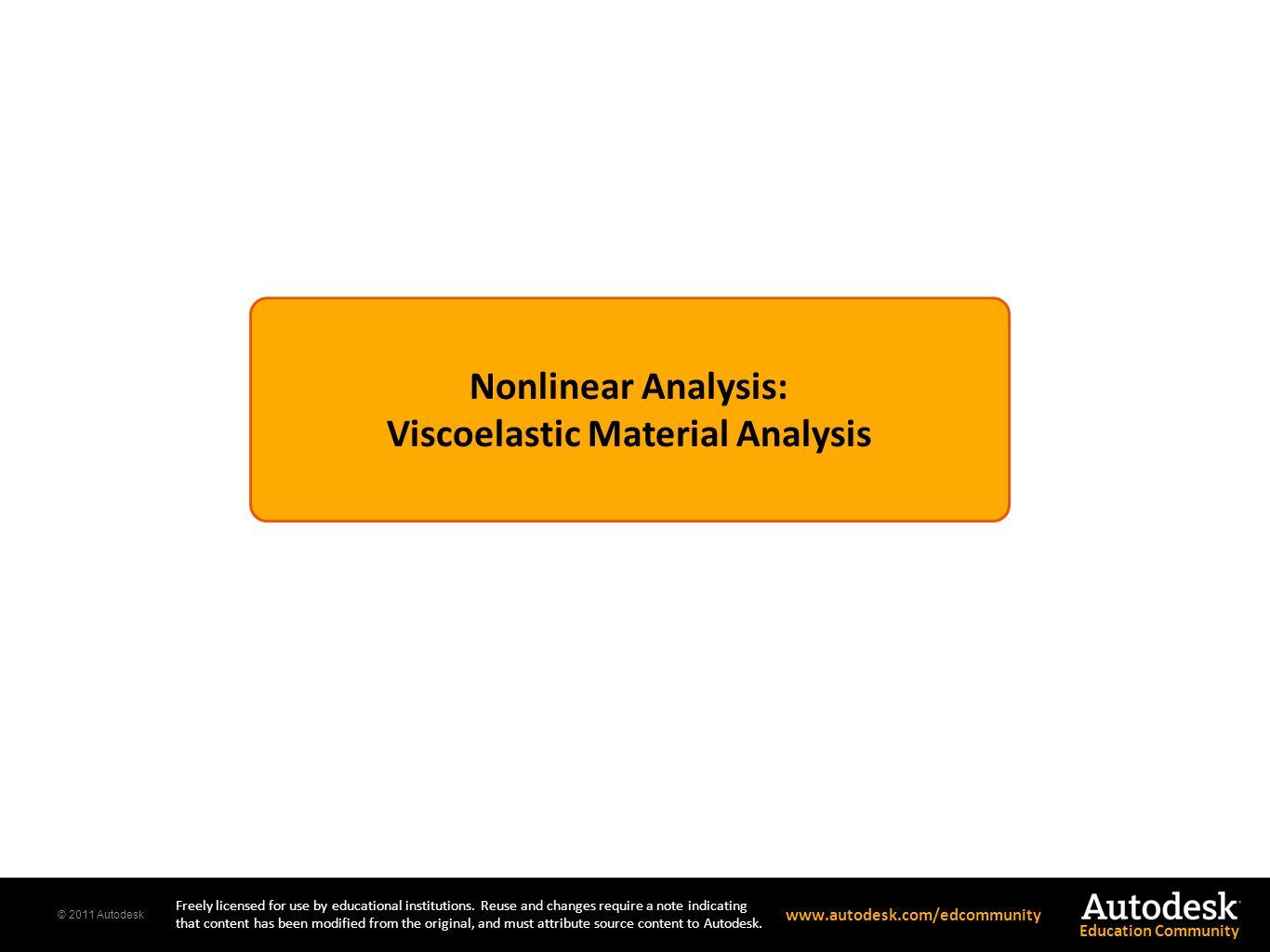 Viscoelastic Material Analysis