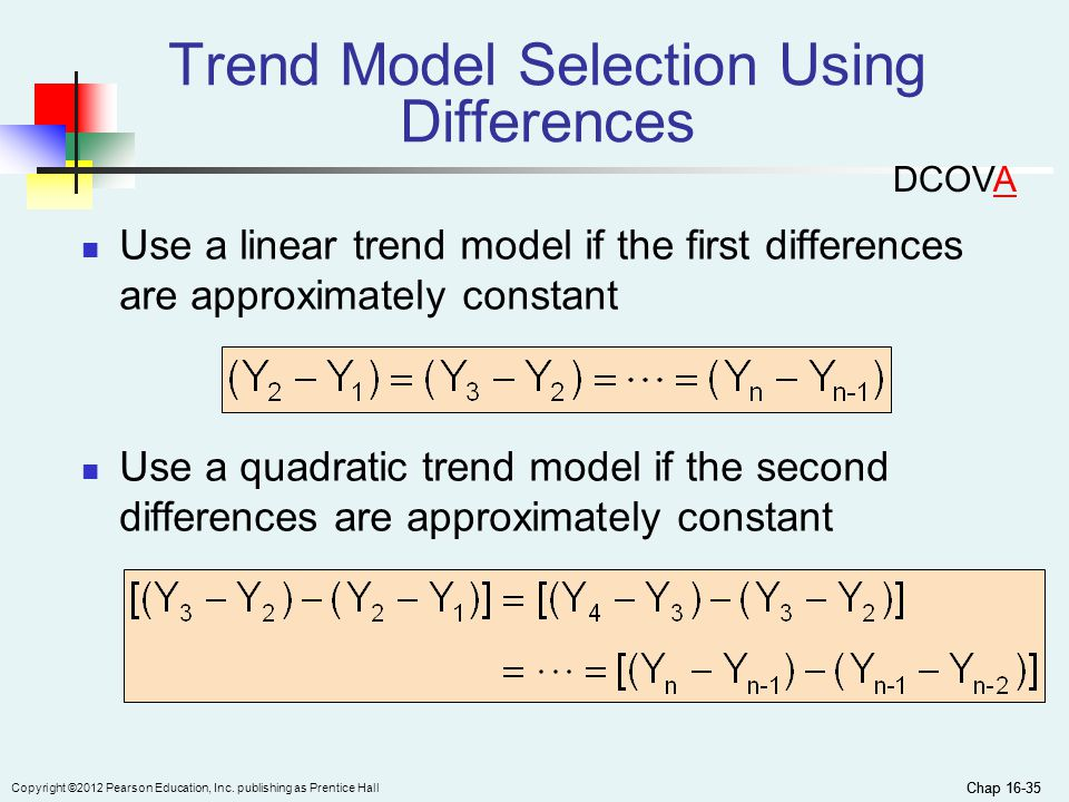 Trend Model Selection Using Differences