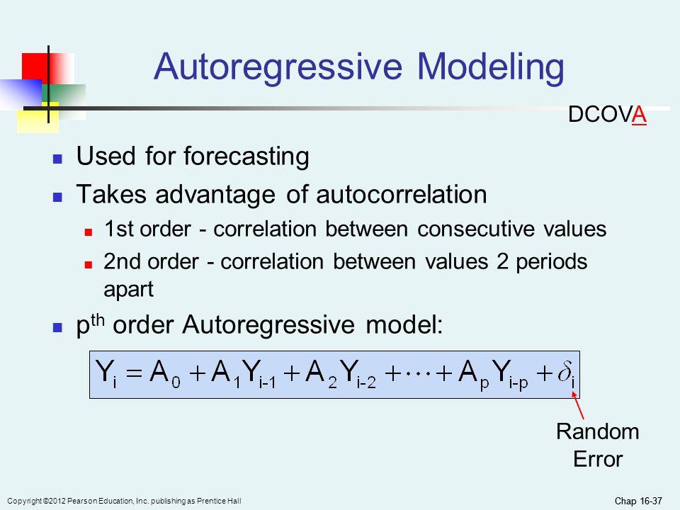Autoregressive Modeling