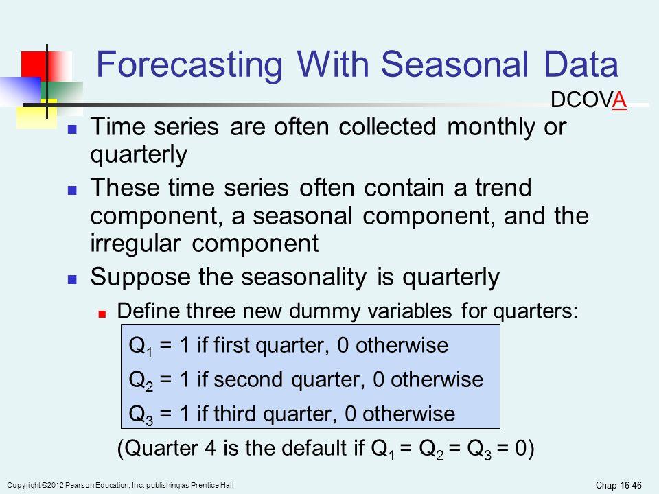 Forecasting With Seasonal Data