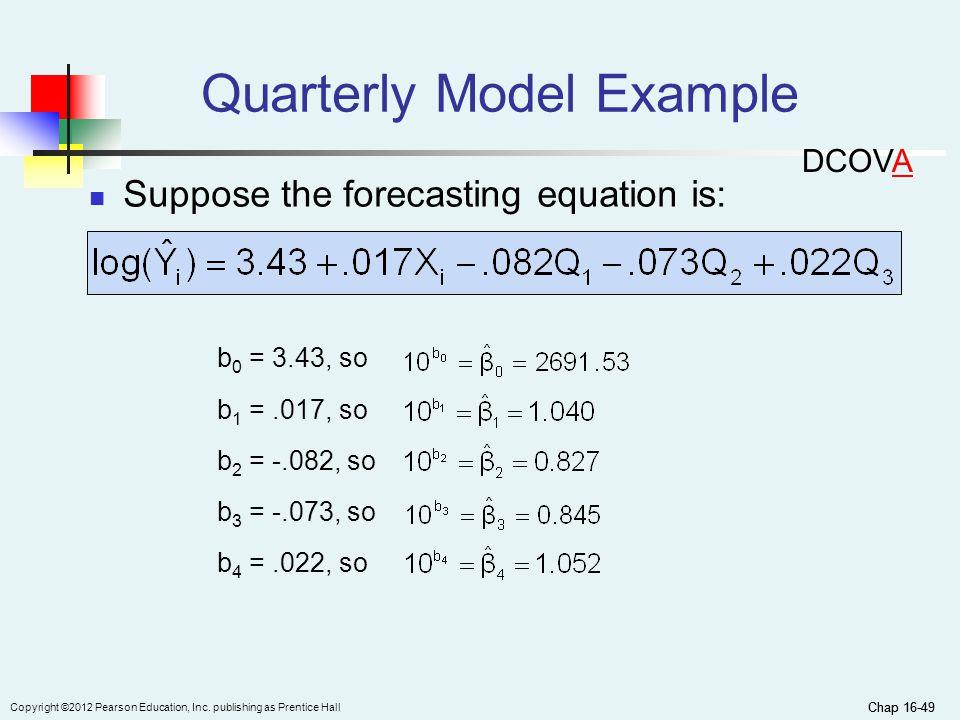 Quarterly Model Example