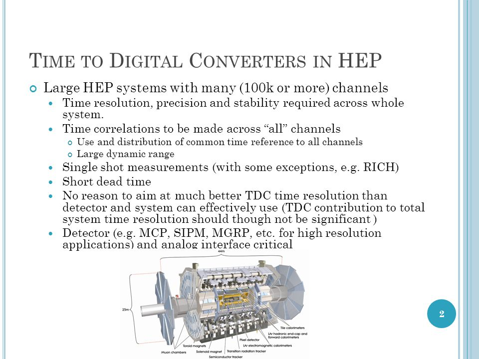 Time to Digital Converters in HEP