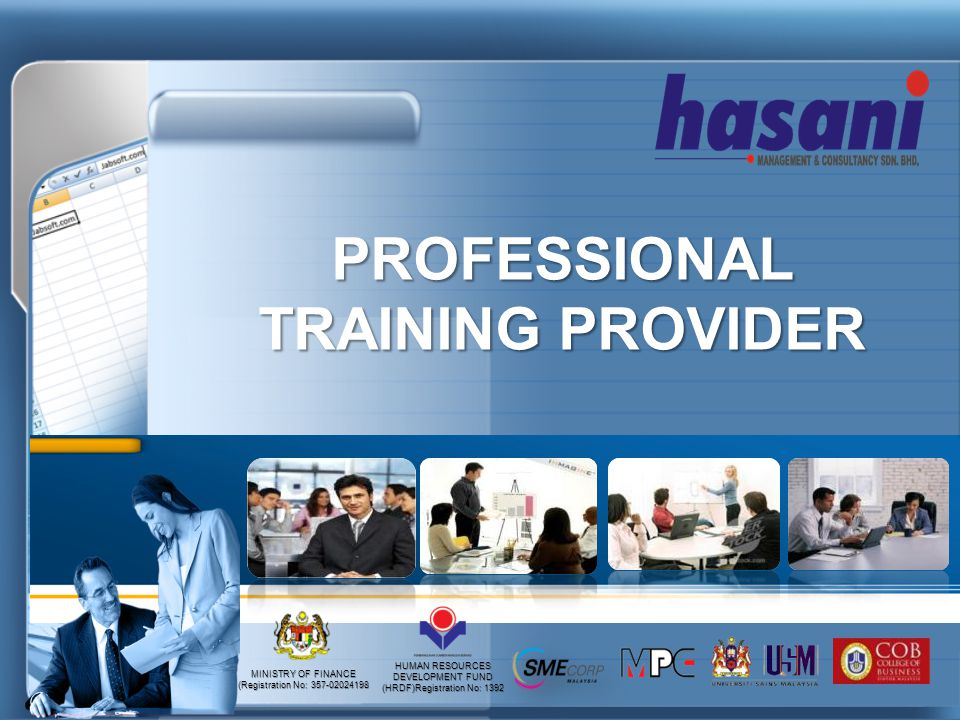 PROFESSIONAL TRAINING PROVIDER