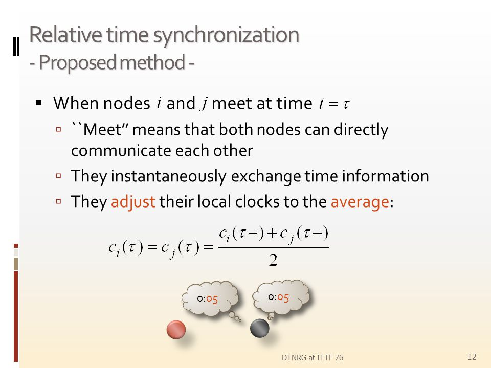 Relative time synchronization - Proposed method -