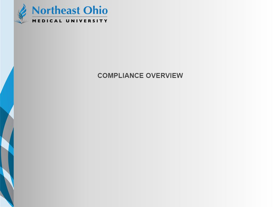 NEOMED TEMPLATE Compliance Overview Option 1