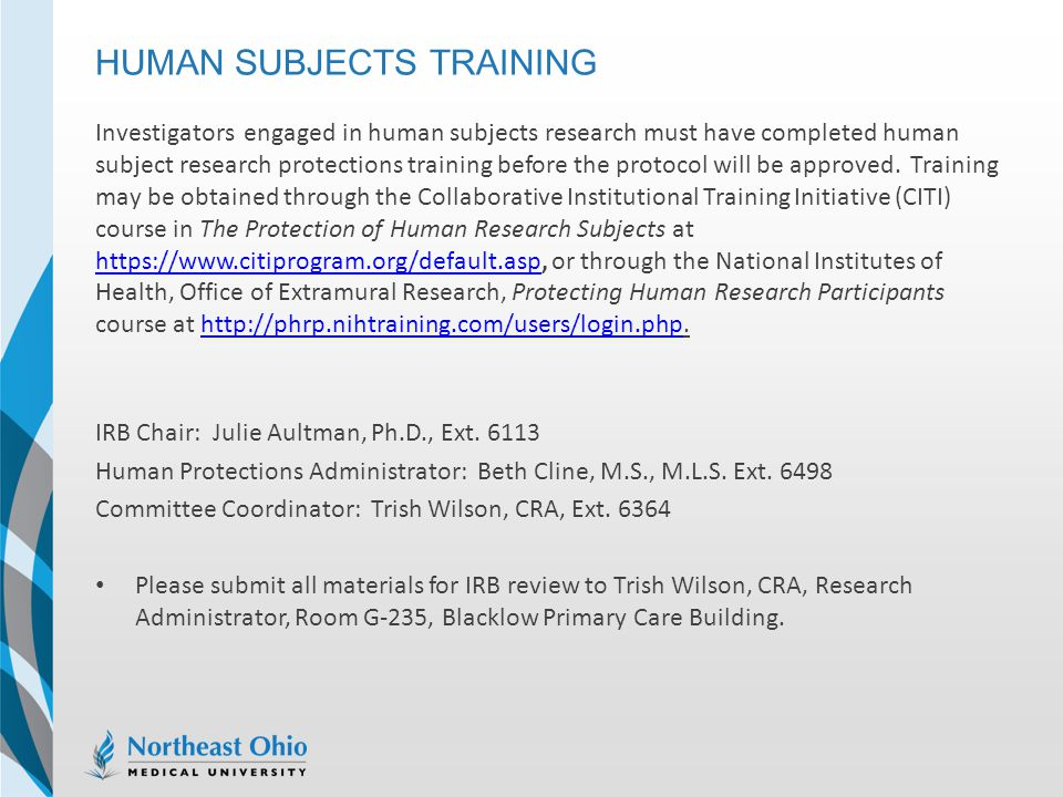 Human Subjects Training