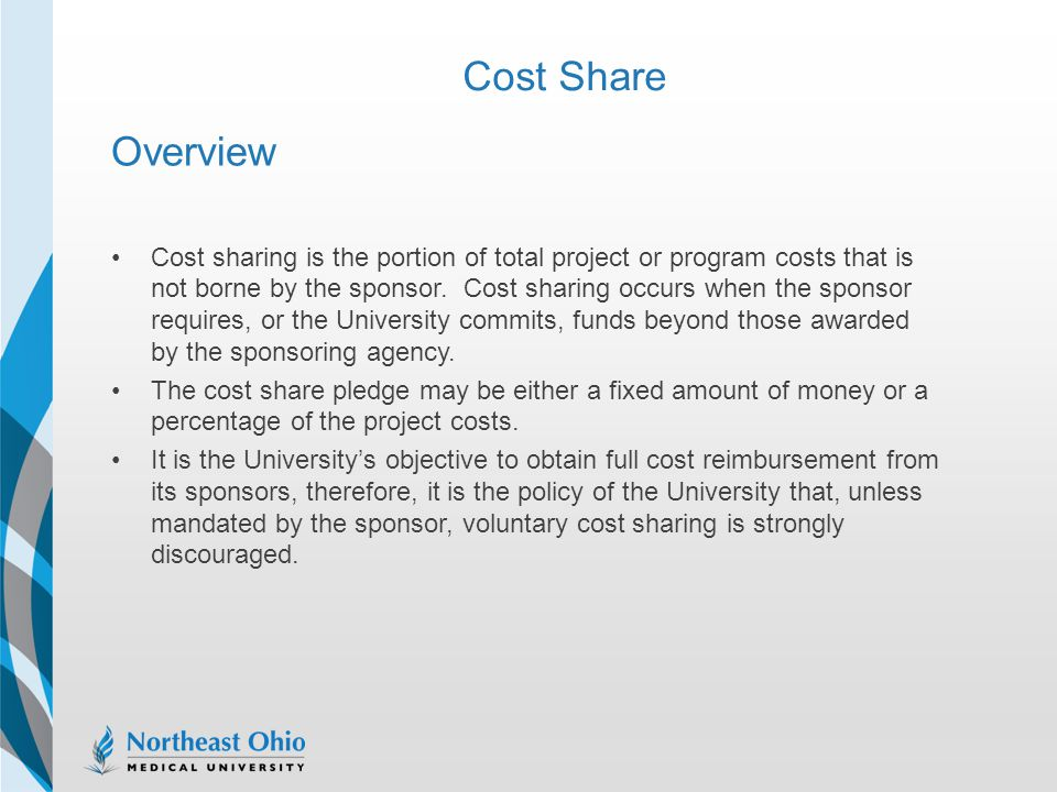 Cost Share Overview.